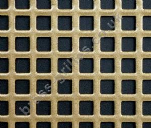 Small Squares 6mm Gold Grille Powder Coated Steel Sheet 2000mm x 1000mm x 1mm